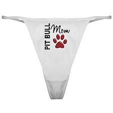 D Pit Bull Mom 2 Classic Thong