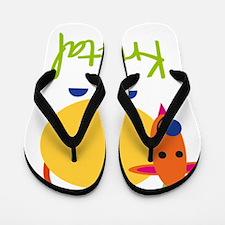 Krystal-the-goat Flip Flops