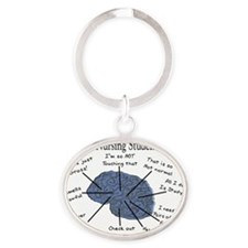 Atlas of a Nursing Student Brain II Oval Keychain