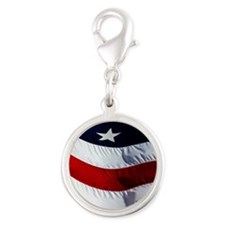 americanMP Silver Round Charm