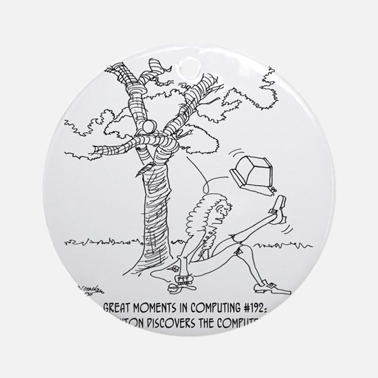 1334_newton_cartoon Round Ornament