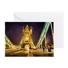 Tower bridge at night Greeting Card