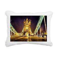 Tower bridge at night Rectangular Canvas Pillow