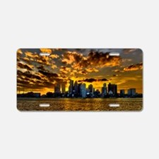 Sunset over Boston Harbor Aluminum License Plate