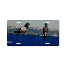 pigeonspostcard Aluminum License Plate