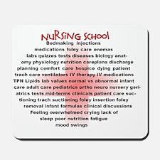 Nursing School Oval Cross Mousepad