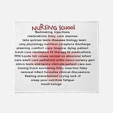 Nursing School Oval Cross Throw Blanket