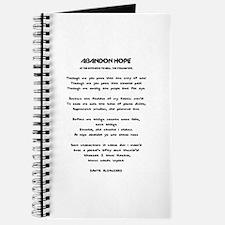 ABANDON HOPE - DANTE ALIGHIERI - ENTRANCE  Journal