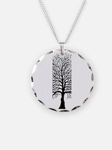 Oak tree for black tee Necklace