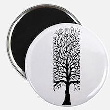Oak tree for black tee Magnet