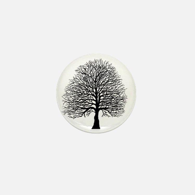 Oak tree Mini Button