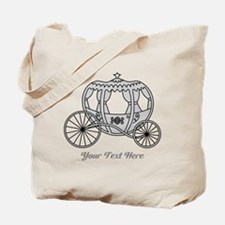 Gray Carriage with Text Tote Bag