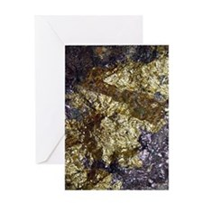 Purple-Gold-Bornite-iPad Greeting Card