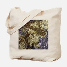 Purple-Gold-Bornite-iPad Tote Bag
