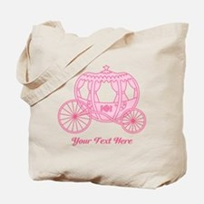Pink Carriage with Text Tote Bag