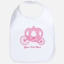Pink Carriage with Text Bib