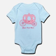 Pink Carriage with Text Body Suit