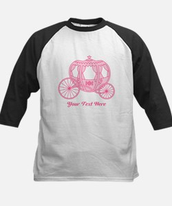 Pink Carriage with Text Baseball Jersey