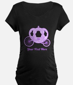 Purple Coach with Text Maternity T-Shirt