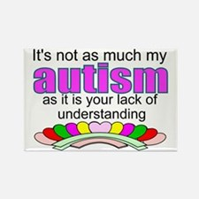 Autism vs understanding Rectangle Magnet