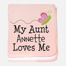 Personalized My Aunt Loves Me baby blanket