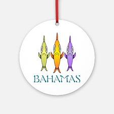 Bahamas 3-fishes Round Ornament