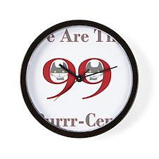 99purrcent copy Wall Clock