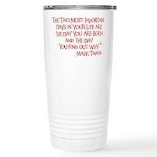 red, Two Imortant Days Travel Mug