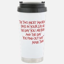 red, Two Imortant Days Travel Mug