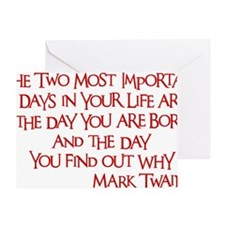 red, Two Imortant Days Greeting Card