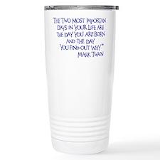 blue, Two Imortant Days Travel Mug