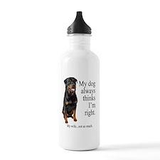 RottVsWifeLight Water Bottle