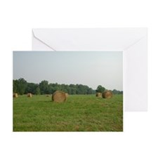 Hay Bails Greeting Card