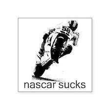 "58_wht_nascar Square Sticker 3"" x 3"""