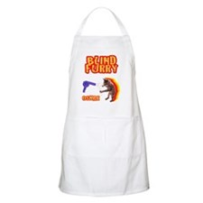 Grey Blind Furry Apron