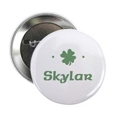 """Shamrock - Skylar"" Button"
