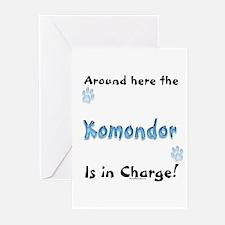 Komondor Charge Greeting Cards (Pk of 10)