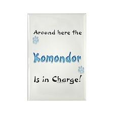 Komondor Charge Rectangle Magnet