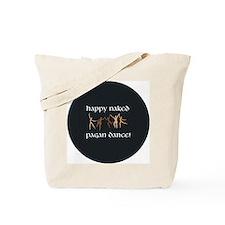 Happy Naked Pagan Dance Circle Tote Bag