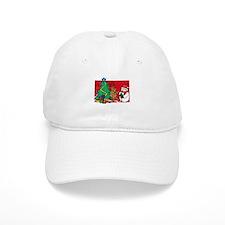 tree, reindeer and snowman Baseball Cap