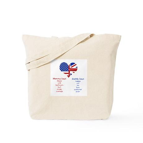 British American Translations Tote Bag