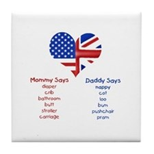 British American Translations Tile Coaster