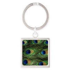 peacock wallet Square Keychain