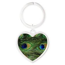 peacock wallet Heart Keychain