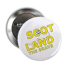 """Scotland the brave white saltire foot 2.25"""" Button"""