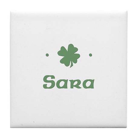 """""""Shamrock - Sara"""" Tile Coaster"""
