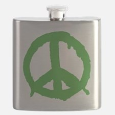 peaceSign01E Flask