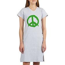 peaceSign01E Women's Nightshirt