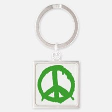 peaceSign01E Square Keychain