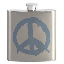 peaceSign01F Flask